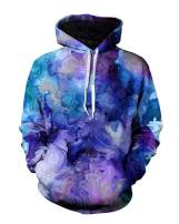 MaQiYa Mens Novelty Hoodies Long Sleeve Tie Dye Printed Drawstring Casual Kanga Pocket Pullovers Sweatshirts