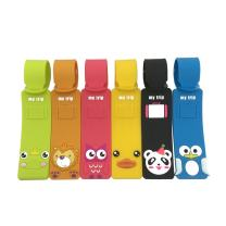 Set of 6 Cute Animals Luggage Tags, Colorful Silicone Travel Suitcase Bag Label