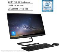 """KKE Upgrades 2020 IdeaCentre A340 23.8"""" FHD Touchscreen All-in-One Computer, Intel 6-Core Processor i5-9400T, 16GB DDR4 Memory, 256GB PCIe SSD(Boot)+1TB HDD, 802.11ac + Bluetooth, HDMI Out, Win10"""