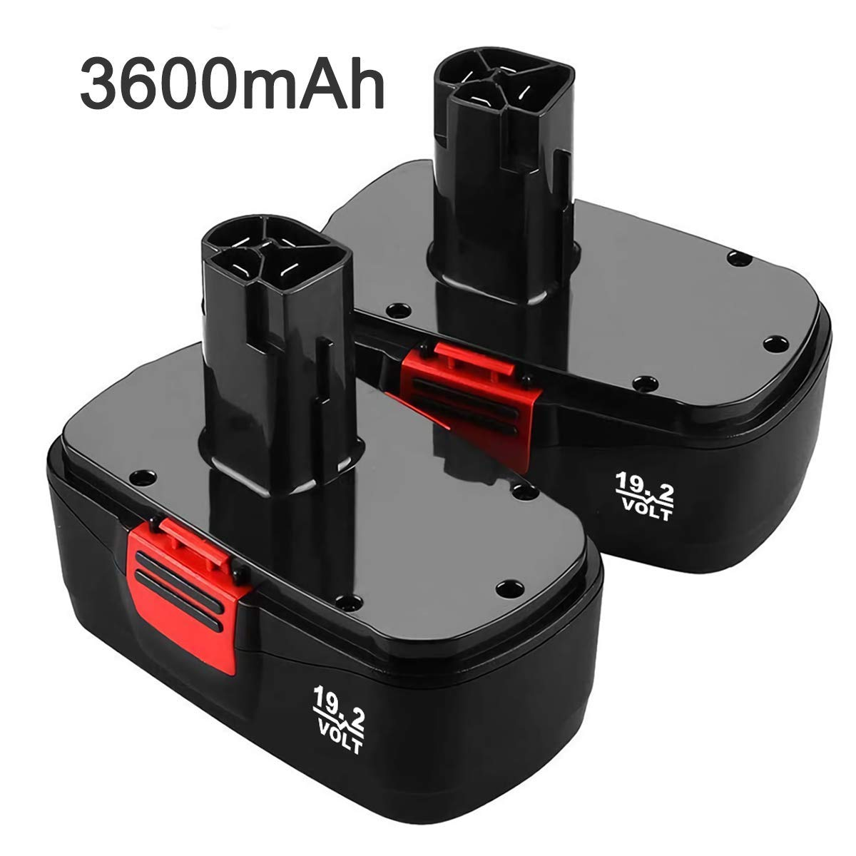 2 Pack 3600mAh C3 Ni-Mh Battery Replacement for Craftsman 19.2 Volt Battery DieHard 130279005 315.113753 315.115410 315.11485 1323903 120235021 130235021 11375 11376 19.2V Cordless Drill Batteries