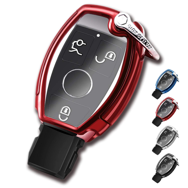 Sliver TPU Full Protection Key Fob Shell Compatible Keyless Smart Key Fob QBUC Key Fob Cover Key Fob Case for C E M S CLS CLK GLK GLC G Class