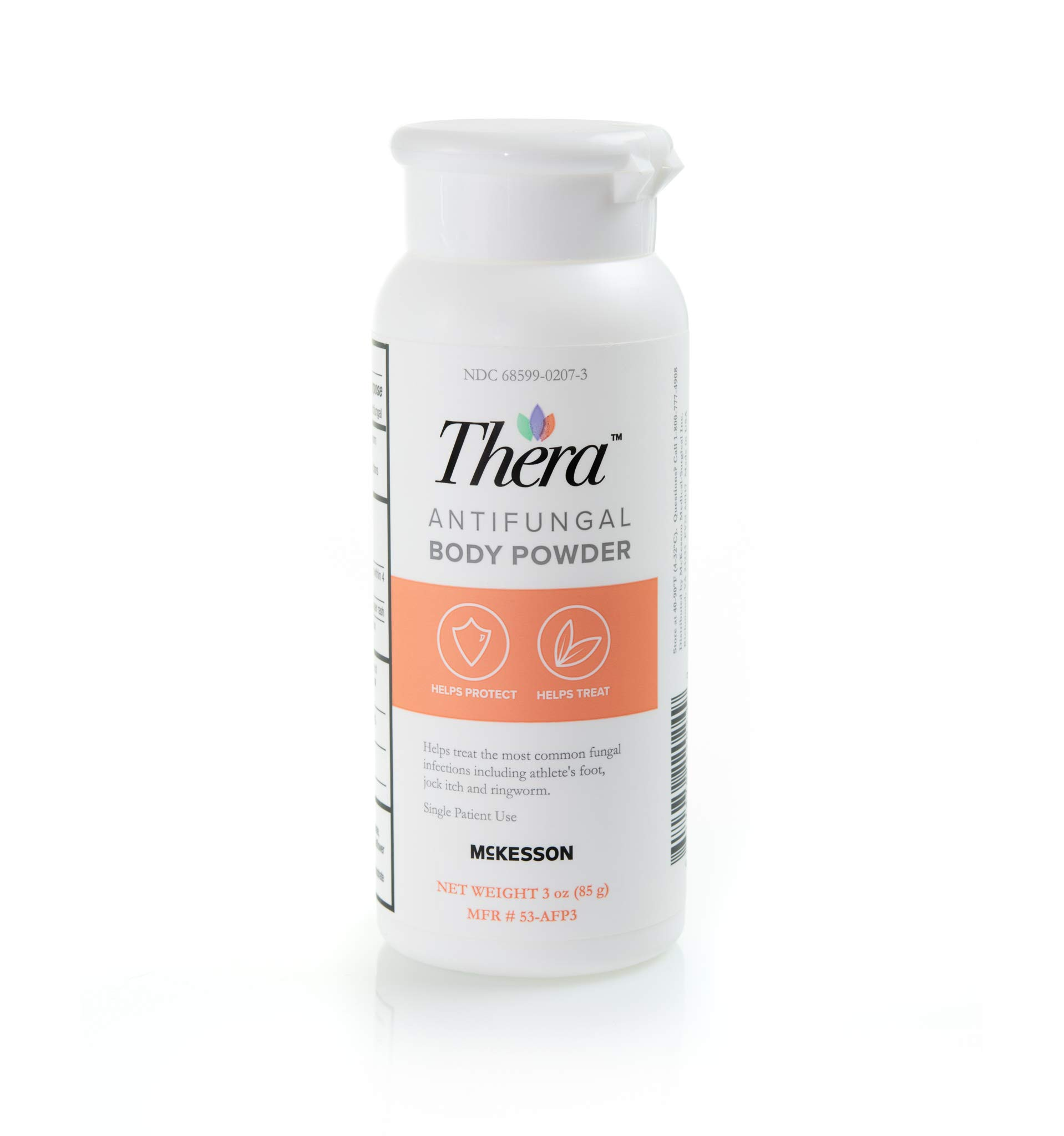 Thera Antifungal Body Powder, Relieves and Prevents Skin Irritation Caused by fungus and Skin Infections - Formulated with Miconazole Nitrate 3 oz