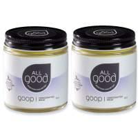All Good Goop - Organic Skin Relief Balm & Ointment w/Calendula for Dry Skin, Scars, Eczema, Diaper Rash, Bug Bites, Burns, Chapped Lips - Safe for Baby & Sensitive Skin(4 oz)(2-Pack)