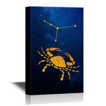 wall26 - Constellation Canvas Wall Art - Cancer - Gallery Wrap Modern Home Decor | Ready to Hang - 24x36 inches