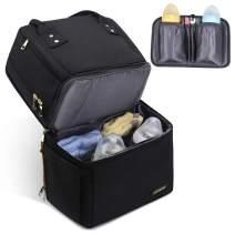 VogshowDiaperBagBackpack,DoubleLayerWaterproofBaby BagsforMomandDad(Black)