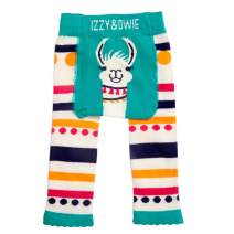 Pavilion Gift Company Izzy & Owie-12-24 Month Teal Llama/Alpaca Baby Girl Soft & Stretchy Leggings, Blue, 12-24 Months