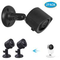 Wall Mount + Weatherproof Case for YI Home Camera - by Koroao - Indoor/Outdoor Security Bracket More Stable and Flexible (2-Pack, Black)