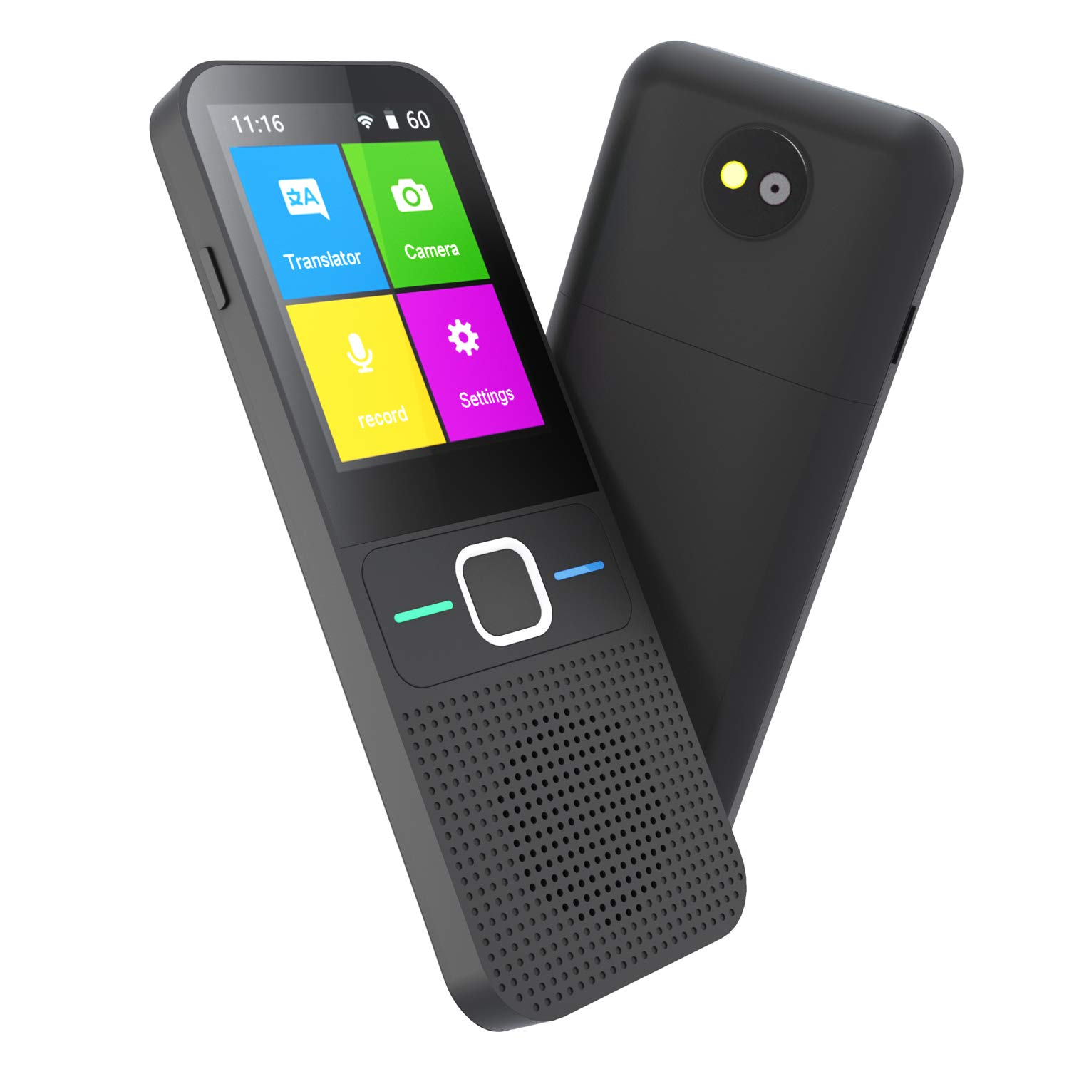 Language Translator Device Smart-JOYSAE Intelligent Two Way WiFi/Hotspot/Offline Instant 2.4 Inch Touch Screen Support 83 Languages Pocket Voice/Text/Recording/Photo Camera Translation Function, Black