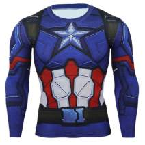 CosplayLife Superhero Compression T-Shirts - Men's Crew Neck Gym Cosplay Costume Casual Muscle Fit