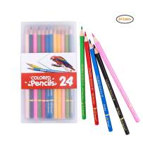 US Sense Colored Pencils Assorted Colors Pack of 24 Drawing Oil Colouring Pencil Art Supplies Set Box for Kid Adults