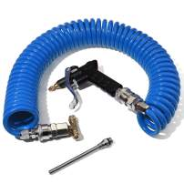Boeray Heavy Duty Truck Air Duster Blow Gun Cleaning with 9 Meter Long Coil and 2 interchangeable nozzle tips- Blue Air Seat Blow Gun Kit