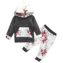 Baby Girl Boy Clothes Long Sleeve Hoodie with Pocket Sweatshirt+Camouflage Pants 2PCS Outfits Set