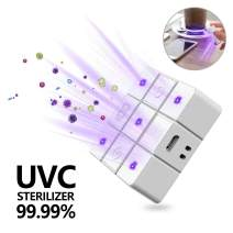 UV Sterilizer Portable Phone Soap UV Light Sanitizer for Smartphones/Watch,Recharge UV Light Disinfection Cleaner Box for Parcel/Toys/Beauty Tools/Toothbrush