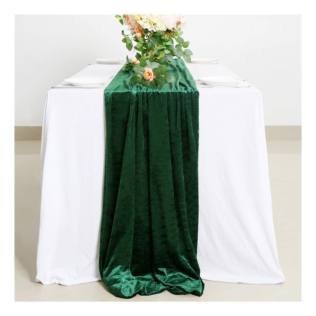 Table Runners Velvet Cotton Table Runner Emerald Velvet Aisle Runner Wedding Table Runner Green Birthday Bachelor Party Holiday Party Event Supplies