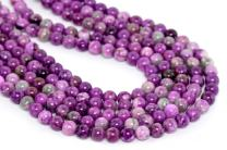 1 Strand Natural Purple Sugilite Crystal Gemstone 10mm (0.39 inch) Round Loose Stone Beads (~ 34-37pcs) for Jewelry Craft Making GF2-10