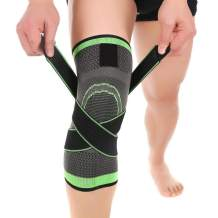 Vitoki Knee compression Sleeve for Men Women Knee Brace Supports for Basketball Weightlifting Gym Workout