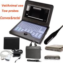 Digital CMS600P2 Vet Veterinary Portable Laptop B-Ultra Sound Scanner Machine 7.5Mhz Rectal Linear Probe & 3.5Mhz Convex Probe Horse/Equine/Cow/Sheep use