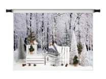 Kate 10x10ft Christmas Backdrops for Photoshoot Forest White Snow Outdoor Scene Xmas Holiday Party Photo Background