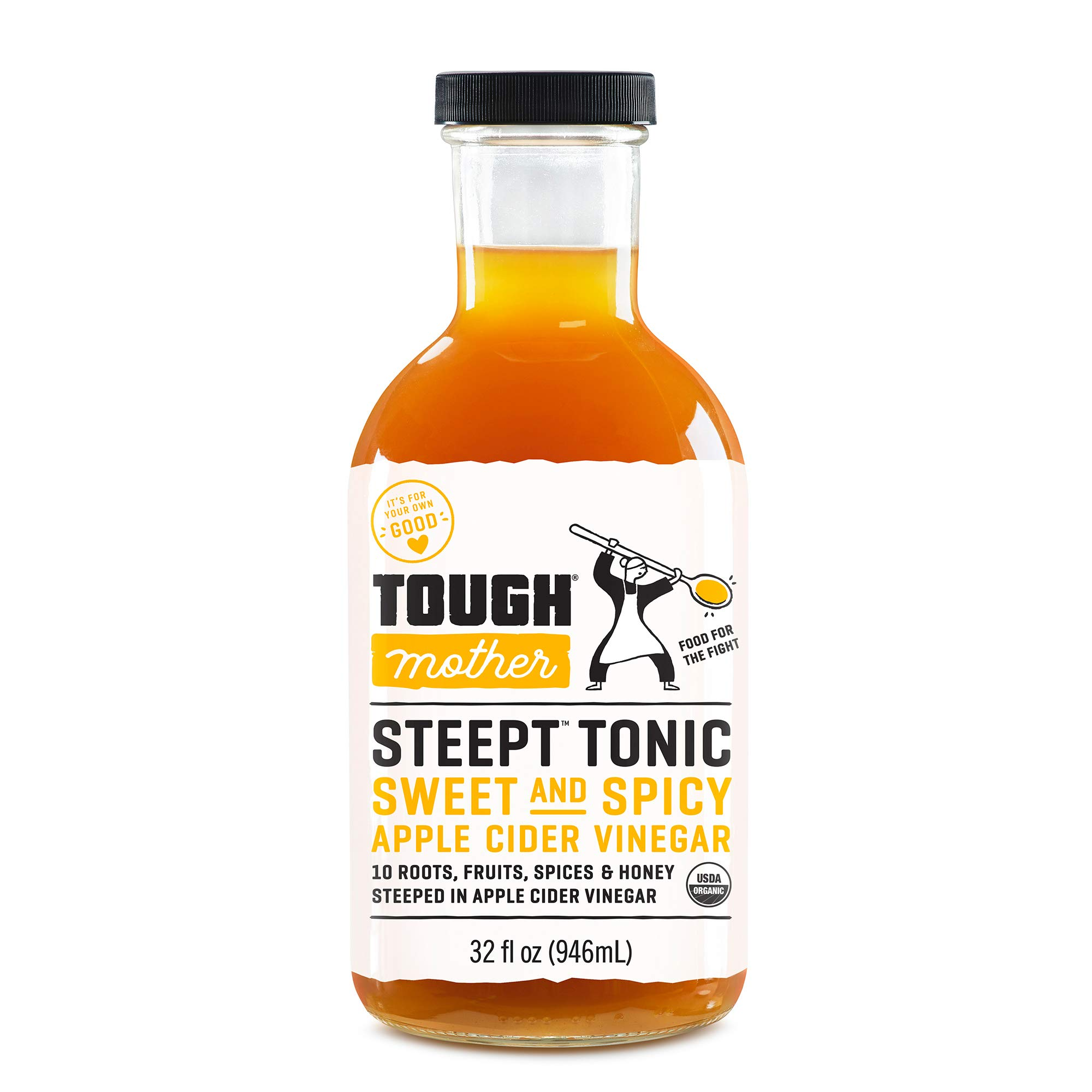 Tough Mother Steept Health Shots - Sweet & Spicy, Certified Organic (32oz)