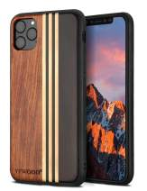 YFWOOD Compatible for iPhone 11 Pro Case 5.8 inch, Unique Wood Shockproof Drop Proof Bumper Protection Cover for iPhone 11 Pro
