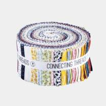 """Connecting Threads Print Collection Precut Quilting Fabric Bundle 2.5"""" Strips (Penelope Grace)"""