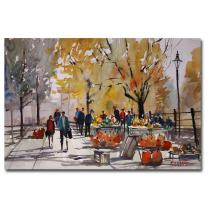 Farm Market - Menasha by Ryan Radke, 16x24-Inch Canvas Wall Art