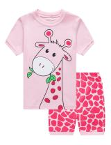 Little Girls Pajamas Toddler Shorts Unicorn Sleepwear for Kids Summer 100% Cotton Pjs 2 Piece Clothes 2-7 Years