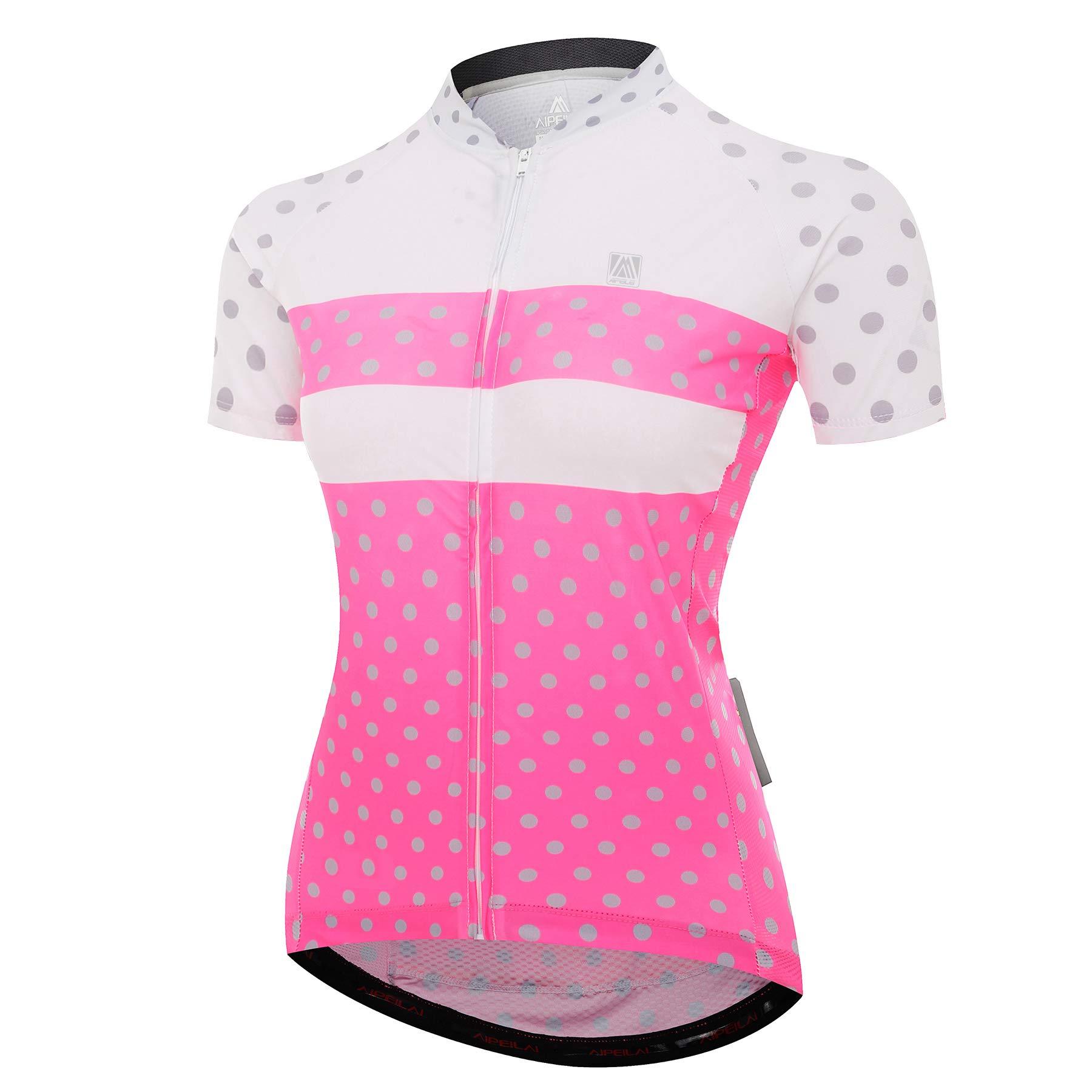 Women Cycling Jersey Short Sleeve Cycling Clothing Sets Ladies Jacket Cycling Shirt with Shorts Padded Pants