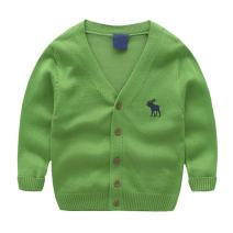 BAIXITE Little Boys Crewneck Cardigans Button Knitted Deerlet Long Sleeves Sweater