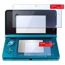 Insten 2-in-1 Clear Reusable Screen Protector LCD Film Cover Compatible With Nintendo 3DS