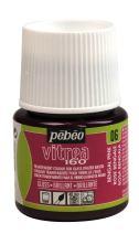 Pebeo Vitrea 160, Glossy Glass Paint, 45 ml Bottle - Bengal Pink