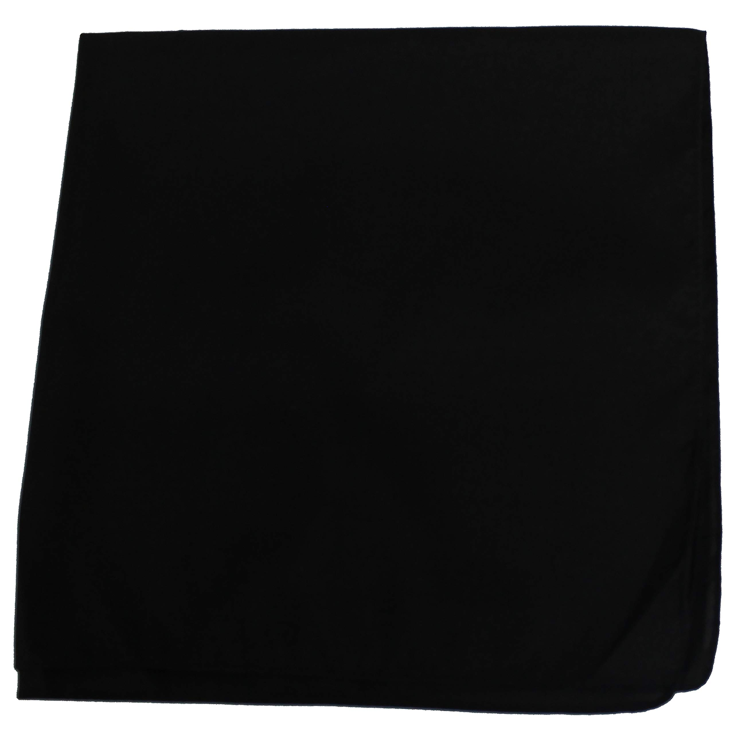Pack of 2 Solid 100% Cotton Extra Large Bandanas - 27 x 27 Inches / 68 x 68 cm