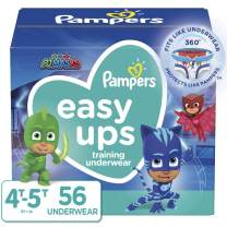 Pampers Easy Ups Pull On Disposable Potty Training Underwear for Boys and Girls, Size 6 (4T-5T), 56 Count, Super Pack (Packaging May Vary)
