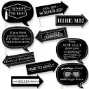 Big Dot of Happiness Funny Graduation Cheers - Graduation Party Photo Booth Props Kit - 10 Piece