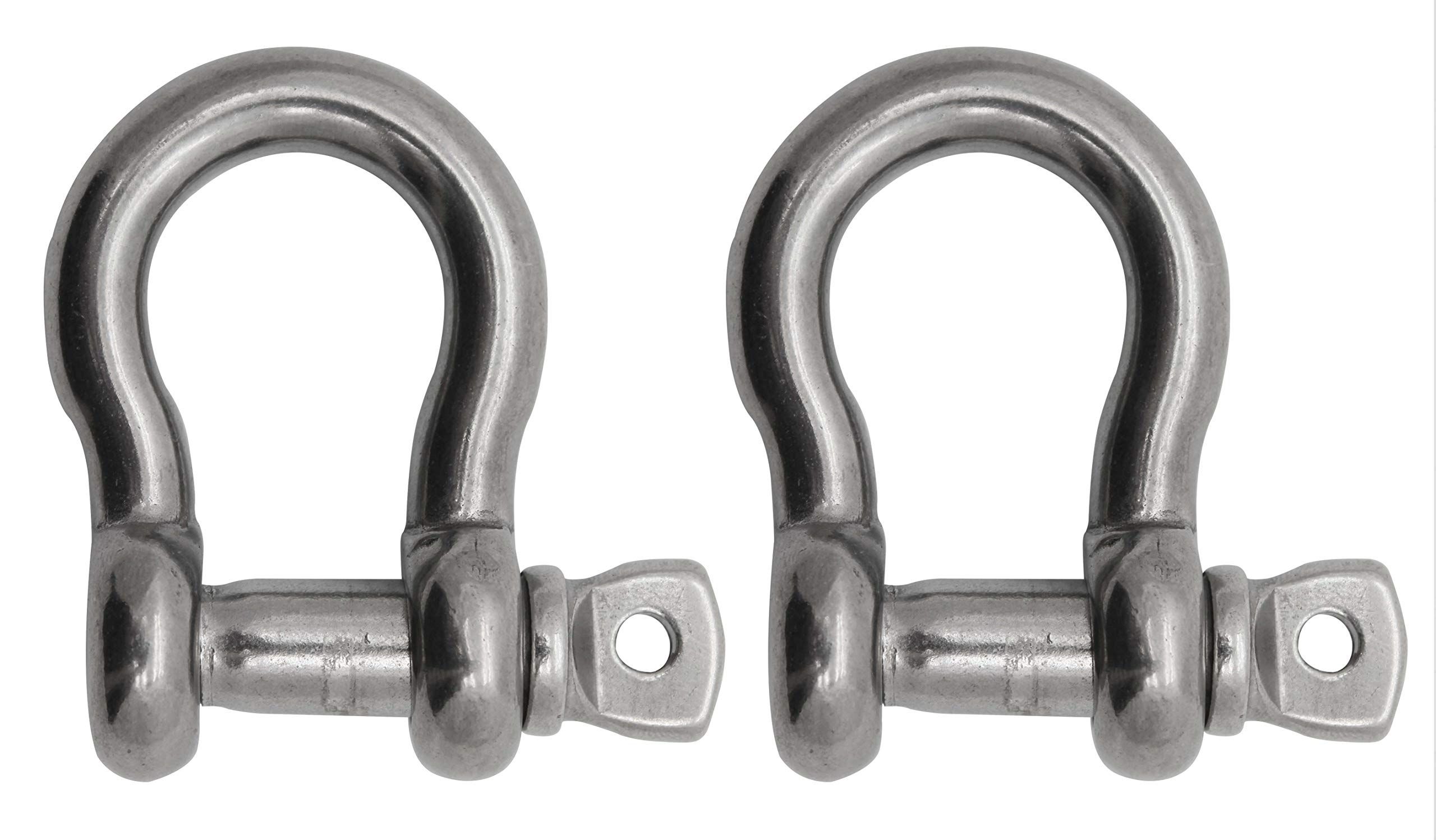 "Extreme Max 3006.8336.2 BoatTector Stainless Steel Anchor Shackle - 1"", 2-Pack,Silver"