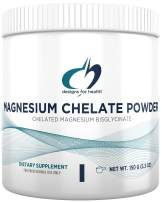 Designs for Health Magnesium Chelate Powder - 300mg Bisglycinate Chelate (30 Servings / 150g)