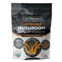 Cordyceps Mushroom 8:1 Extract Powder - USDA Certified Organic - High Performance Energy Supplement - Stamina, Endurance, Oxygen Utilization - Whole Mushrooms/No Fillers - 4oz (113g)