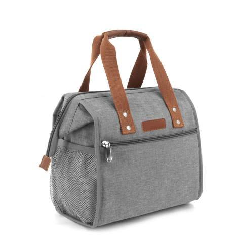 Lunch Bag Insulated Lunch Tote Bag for Women Men and Kids Portable & Wide-Open Lunch Box for Office, School and Picnic (Grey)