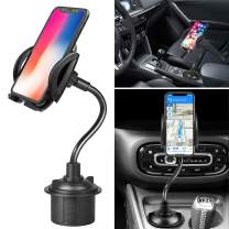 Cup Phone Holder for Car, Yougai Car Cup Holder Cell Phone Mount with Adjustable Gooseneck for iPhone X XS Max XR 8 Plus 7 6 SE,Galaxy Note9 S10 S9+ Smartphones, GPS