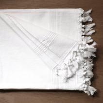 Living Fresh Large Turkish Bath Towels - Soft, Absorbent, Oversized Luxury Towel, Quick Drying, Hand Knotted, Machine Washable - Inhibit Dust Mites & Exfoliates - Smooth Fringe Tassels - 40x60
