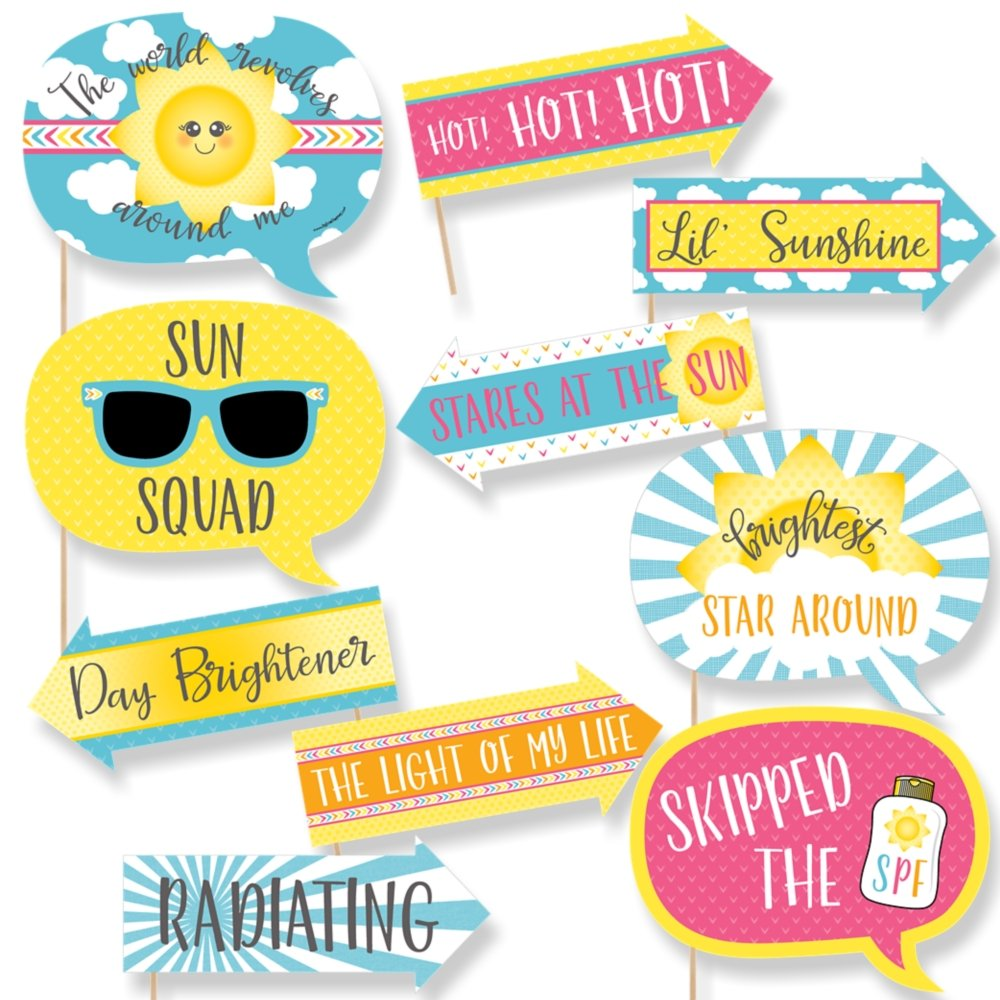Funny You are My Sunshine - Baby Shower or Birthday Party Photo Booth Props Kit - 10 Piece