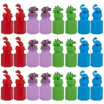 "CUZAIL Party Favors - Dinosaur Bubbles 24 Pack -3"" Bottles - Summer Outdoor Fun - Beach Parties - Party Supplies - Gifts for Kids - Toys"