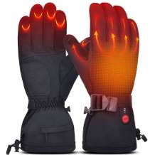 Heated Gloves for Men & Women, Electric Rechargeable Battery Heating Gloves for Winter Sports Arthritis Raynaud Winter Snow Ski Hunting Camping Hiking Riding Warm