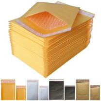 """Padded Envelopes Yellow Kraft Bubble Mailers 10x13 (Usable Space 9.2""""x13"""") Small Bubble Envelopes (35 Pack)"""