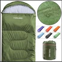 FARLAND Sleeping Bags 20℉ for Adults Teens Kids with Compression Sack Portable and Lightweight for 3-4 Season Camping, Hiking,Waterproof, Backpacking and Outdoors