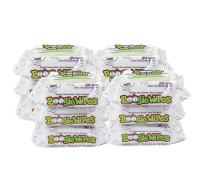 Boogie Wipes, Unscented Wet Nose Wipes for Kids and Baby, Allergy Relief, Soft Natural Saline Hand and Face Tissue with Aloe, Chamomile and Vitamin E, 30 Count, Pack of 12