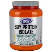 NOW Sports Nutrition, Soy Protein Isolate, 25 G With BCAAs, Creamy Vanilla Powder, 2-Pound