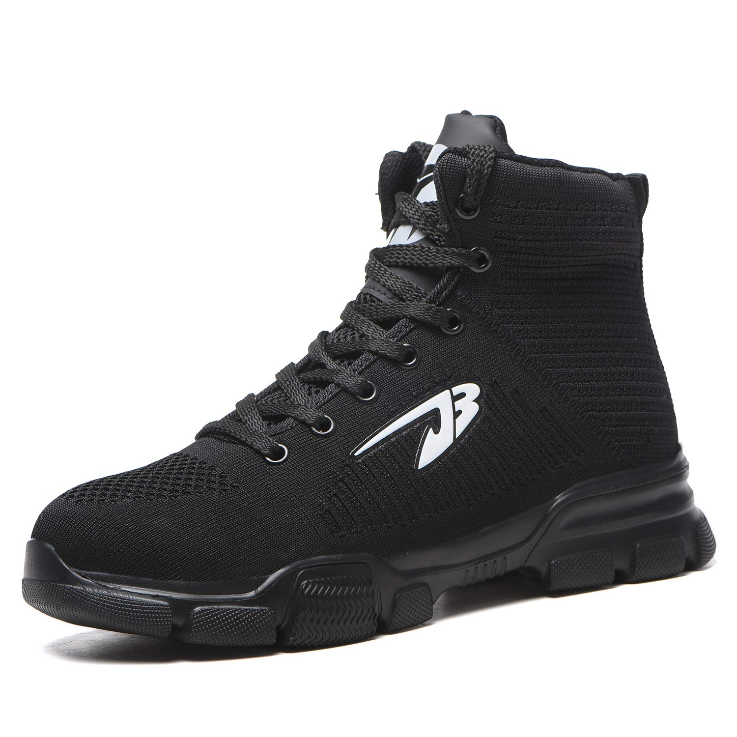 WOWSTICK Indestructible Steel Toe Safety Boots, Waterproof Slip Resistant Lightweight Industrial Construction Work Shoes