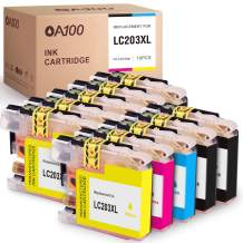 OA100 Compatible Ink Cartridge Replacement for Brother LC203 LC203XL LC203 XL for MFC-J480DW MFC-J485DW MFC-J885DW MFC-J4420DW (4 Black, 2 Cyan, 2 Magenta, 2 Yellow, 10 Pack)