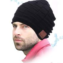 WONDAY Gifts for Dad and Mom-Bluetooth Hat for Men and Women-Winter Knit Cap with Wireless Headphones Speakers